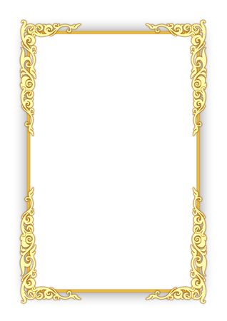 Frame on white photo