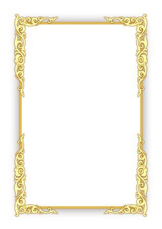 gilt: Frame on white Stock Photo