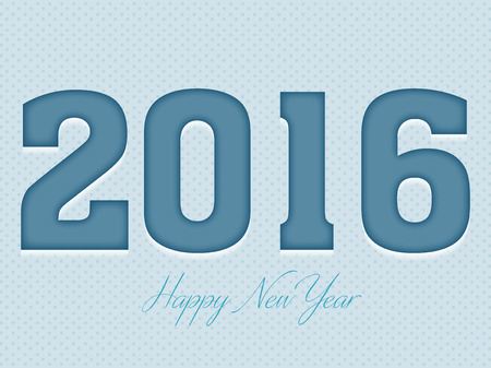 new years resolution: Happy New Year 2016 Text Design