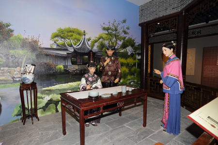 he is a traditional: Yangzhou cuisine Museum