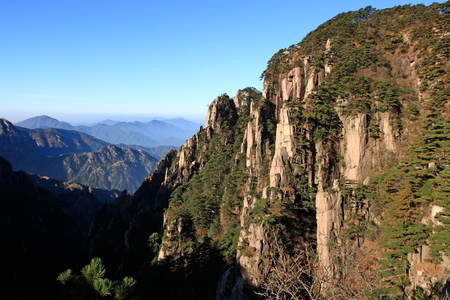 best travel destinations: huangshan Stock Photo
