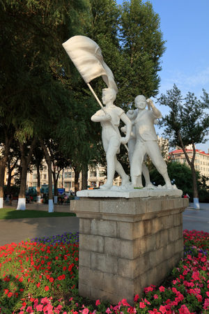 pioneers: The statue of Young Pioneers Editorial