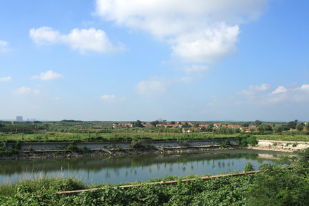 rural area: Landscape view of a rural area