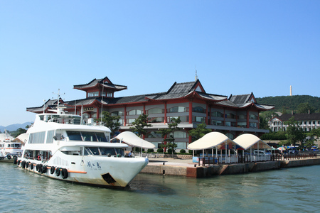 wharf: Liugong Island passenger wharf