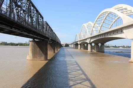 ハルピンの松花江鉄道橋