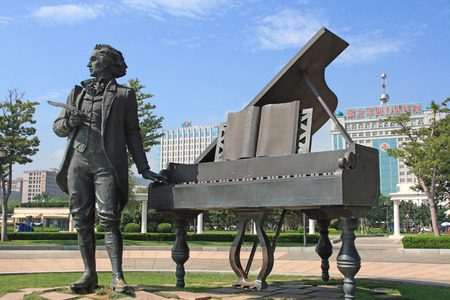 Poland composer - Frédéric Chopin statue
