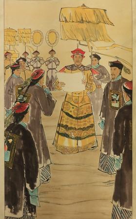 Kangxi South Tour art painting