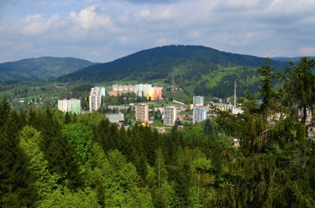 town in the mountains Stock Photo - 21749359