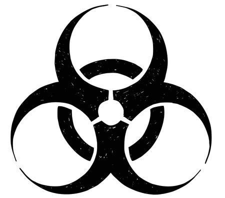 biohazard: Vector drawing illustration of biohazard symbol