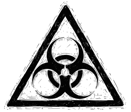 Vector drawing illustration of biohazard sign symbol Illustration