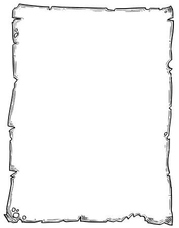 Mano dibujo desfile de marco de Halloween de dibujos animados con ilustraciones de calabaza.