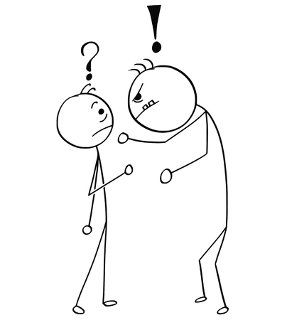 Cartoon stick man drawing Иллюстрация