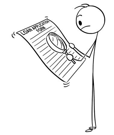 Konzeptionelle Illustration des Cartoon-Stick-Mannes.