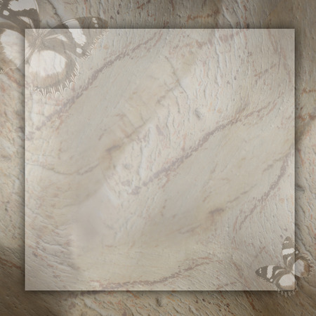 slur: marble background with butterfly  Stock Photo