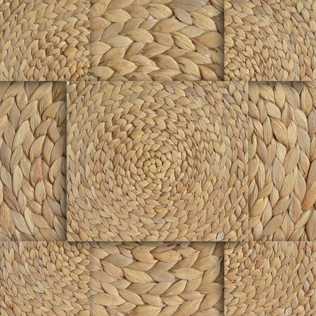 slur: Background with braided straw