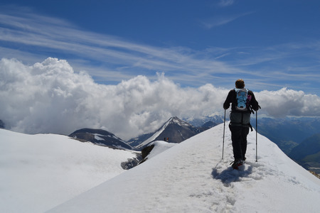 franz: Austrian mountains - Glacier Pasterze - Gross Glockner - tourist