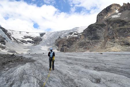 tauern: Austrian mountains - Glacier Pasterze - Gross Glockner - tourist