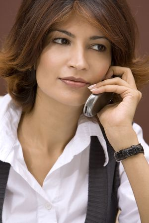 business woman talking on the phone Stock Photo - 565651