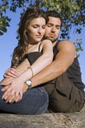 couple having fun during summer days photo