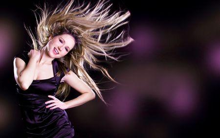 pretty woman movimento danza su sfondo nero