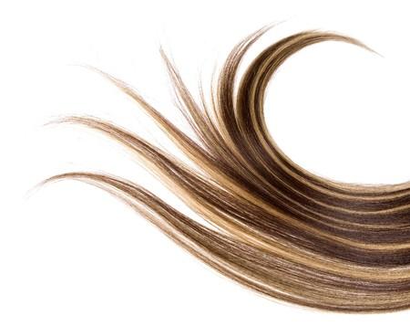 textura pelo: cabello largo marr�n estilo sobre fondo blanco aisladas