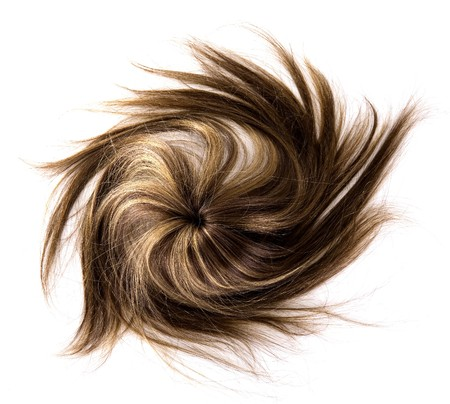 long brown hair style on white isolated background Stock Photo - 4443331