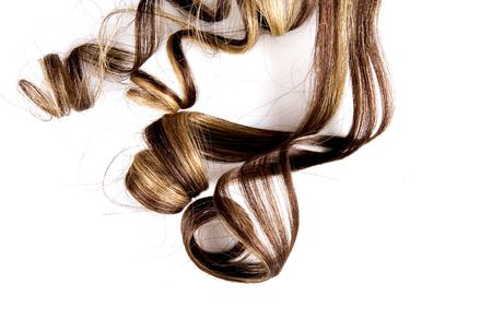 long brown hair style on white isolated background Stock Photo - 4482976