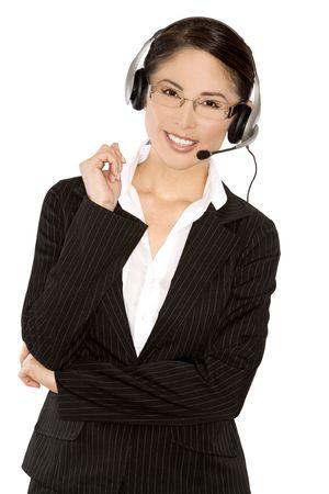 ziemlich asiatische tragen Business-Outfit auf weißen Hintergrund Standard-Bild