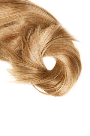 human blonde hair on white isolated background Stock Photo - 12908096