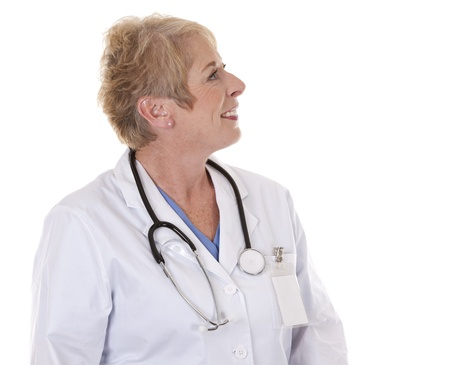 caucasian doctor is smiling on white isolated background Stock Photo - 15383622