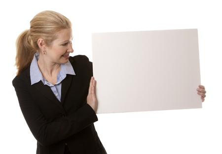 business woman in her 40s on white isolated background Stock Photo - 16302345