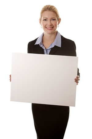 business woman in her 40s on white isolated background Stock Photo - 16374412