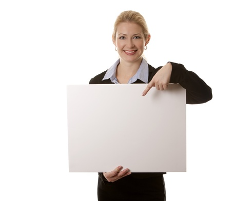 business woman in her 40s on white isolated background Stock Photo - 16374408