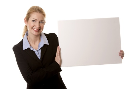 business woman in her 40s on white isolated background Stock Photo - 16374413