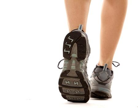 Primer plano de los zapatos para correr en acción Foto de archivo - 16695715