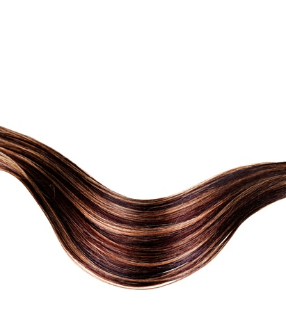 human brown hair on white isolated background Stock Photo - 17627527