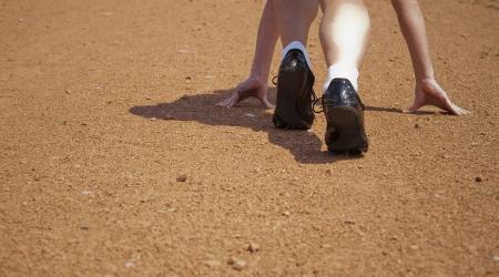 runner's legs during the start outdoors Stock Photo - 19856160