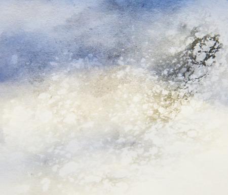 pintura abstracta: azul pintura abstracta con textura en el fondo blanco