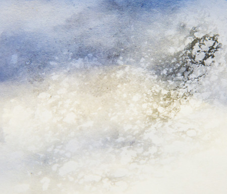 textured: blue abstract textured painting on white background Stock Photo