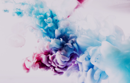 blue and red splash on white background. It is a paint of splash in colorful view. Zdjęcie Seryjne