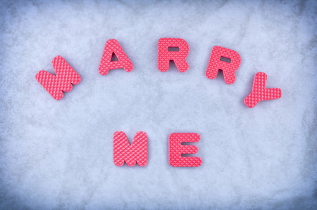 marry: Marry me sign made out of alphabet