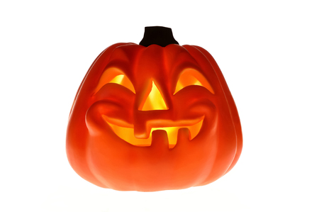 Halloween pumpkin isolated on the white background Stock Photo