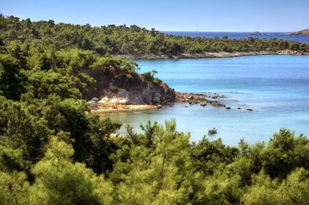 Beautiful Greek island of Thassos: one of the most popular tourist destinations in Greece.