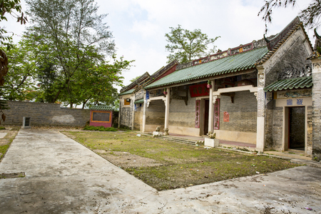 ancestral: The Ancestral Temple in village. Editorial