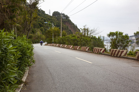 telegraph hill: Asphalt road during the day time Stock Photo