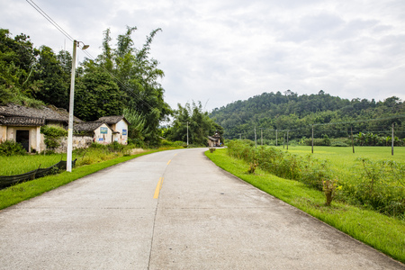 Landscape view of a rural area