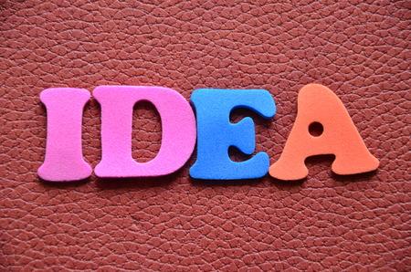 dea: Word idea Stock Photo