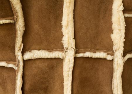 sheepskin: sheepskin coat, made of pieces of sheepskin