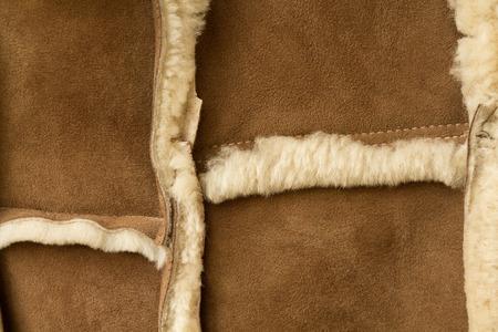 sewn: Sheepskin sheepskin sewn