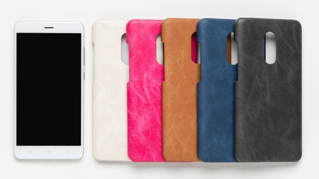 Set of colored silicone back covers for smartphone